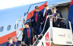 Desembarque da delegação da Rússia em São Paulo (Foto: Vinícius Fonseca )