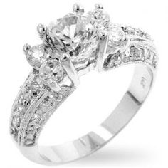 Royal White Gold Bonded Lab Diamond 1.65ct Five Stone Engagement Ring - All Things Luxury