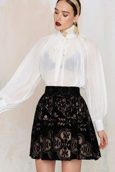 Nasty Gal Down to Party Velvet Skirt - Clothes | Skirts | Party Shop | Skirts