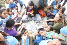 Naziya Bandookwala teaching creative craft work to rural students of India bit.ly/1JPAJvL  #eductaionforall #thalagiri