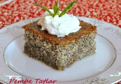 Poppy seed Revani Recipe, How To? - Feminine Recipes - Delicious, Practical and Most Exquisite Recipes Site - Cookie Recipes, Snack Recipes, Dessert Recipes, Snacks, Bread Recipes, Turkish Sweets, Best Bread Recipe, I Am Baker, Caramel Cookies