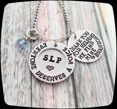 Speech Therapist Gift, Speech Therapy Staff, Rehab Office Professional Jewelry Necklace, Language Therapy Gift
