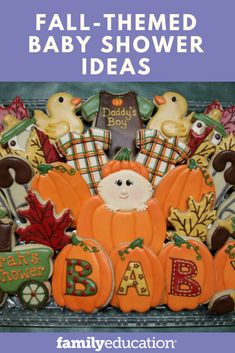 Fill your fall baby shower with elements of autumn to welcome your new baby.