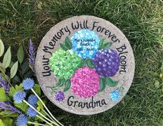 GRANDMA Memorial GIFT, Mother's Day Gift, Hydrangeas, Mother Memorial, Grandma Gift Ideas, Grandmothers Day, Nana Gift, Flowers by samdesigns22 on Etsy Wedding Gifts For Parents, Our Wedding Day, Grandmother's Day, Memorial Gifts, Grandma Gifts, Memorial Garden Stones, Mother Gifts, Parent Gifts, White Gift Boxes
