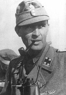 SS-Obersturmbannfuhrer Richard Schulze 1944 with the 12th SS Division Hitlerjugend