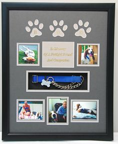 """16"""" x 20"""" Dog Memorial Shadow Box   R.I.P.  Bud.... you were a loved friend and companion."""