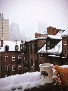 """I think Im going to Boston...I think Ill start a new life..."" Snow day in Boston / photo by Emari Traffie"