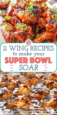 Wings and football go hand-in-hand, but when it comes to the Super Bowl, you really want those wings to take flight. We have just about every cooking method covered and so many different flavors to choose from! These recipes are… Continue Reading → Honey Mustard Chicken Wings, Teriyaki Chicken Wings, Healthy Eating Tips, Healthy Nutrition, Simply Recipes, Easy Recipes, Chicken Wing Recipes, Most Popular Recipes, Game Day Food