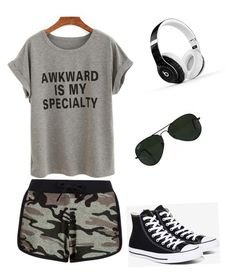 """""""Lazy day"""" by supergirltyler on Polyvore featuring New Look, Converse, Beats by Dr. Dre and Ray-Ban"""