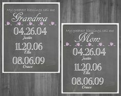 Mother's Day Gift Grandmother Mother's Day gift by Raising3Cains