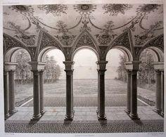 Vintage Ephemera: Illustration, Rügen - Schloss Dwasieden, hall, 1879
