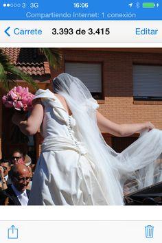 Haute Couture wedding dress, Naiara & Carlos wedding http://www.danaetobajas.com/blog-en/