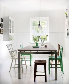 Love the chair mix, and the green details. Photo Debi Treloar