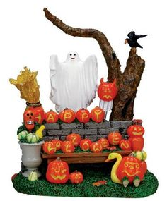 Lemax Spooky Town Pumpkin Greeting Accessory