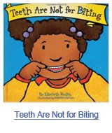 Teeth are not for biting = Los dientes no son para morder by Elizabeth Verick. (Minneapolis, MN : Free Spirit Publishing Inc., Simple text and illustrations demonstrate what teeth are supposed to be used for instead of biting. Toddler Books, Childrens Books, Behavior Board, Toddler Biting, Into The Fire, Halloween Books, Puzzle Books, Early Education, Childhood Education