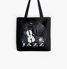 Jazz Lovers - Music On Vinyl by BlueMoonGear | Redbubble Vinyl Music, Vinyl Records, Jazz Instruments, Classic Jazz, Laptop Skin, Ipad Case, Reusable Tote Bags, Lovers, Backpacks