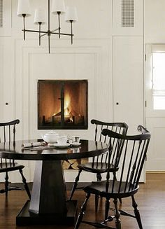 Beautiul Black Windsor Chairs, White Room