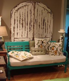 Love the subtle turquoise. And the doors.