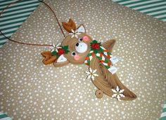 Quilling paper art Christmas tree toy Christmas deer 3D