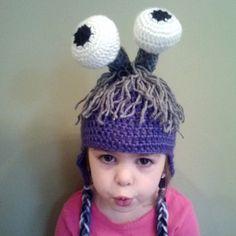 Monsters Inc Boo Crochet hat by ChickadeeFrills on Etsy, $20.00