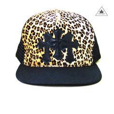 09fff7a0417 CH leather leopard trucker cap Chrome Hearts