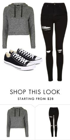 """Untitled #481"" by cuteskyiscute on Polyvore featuring Topshop and Converse"
