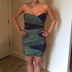 {20% off Sale} BCBG sweetheart mini dress ✨BCBG sweetheart mini dress in multi color✨ BCBG Dresses Strapless