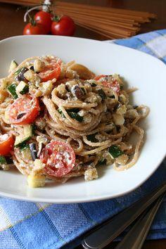 Healthy Recipes, Healthy Food, Ricotta, Bon Appetit, Pasta Salad, Spaghetti, Pizza, Vegetarian, Cooking