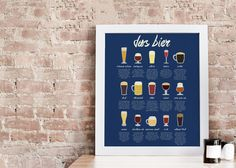 A go-to print for the beer lover in your life. $42.00 | BRIKA. Gifts For Beer Lovers, Beer