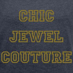 Chic Jewel Couture Rolled sleeve T-shirt Gold printing | Chic Jewel Couture by Melanie Falvey