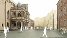 A picture of what the MiQua will look like above ground once completed (picture-alliance/dpa/LVR/Wandel Lorch) Roman Era, Jewish Museum, North Rhine Westphalia, Jewish History, City Streets, Present Day, Middle Ages, Alps, Cologne