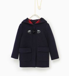 Check lining duffle coat from Zara