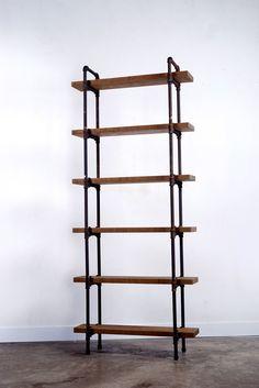 Hardwood-Pipe Furniture ROMUS : 인더스트리얼 찬장 & 선반 by ROMUS 하드우드 파이프 가구 로머스