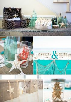 turquoise+and+coral+wedding | DIY Beach Wedding In Coral And Turquoise | Weddingomania