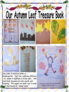 Leaf Book in ART Leaf Book, Different Art Styles, Letter F, Fall Is Here, In Kindergarten, Autumn Leaves, Teaching Ideas, Free Printables, Harvest