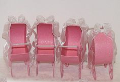 Pink Carriage Baby Shower Favor Boxes FavorFancyAndFun- Etsy