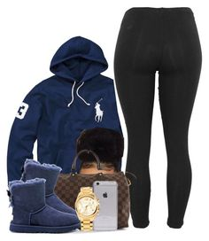 """""""Untitled #389"""" by princess-miyah ❤ liked on Polyvore featuring Polo Ralph Lauren, Louis Vuitton, UGG Australia and Michael Kors"""