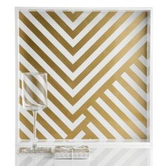 Chevron Tray And Coasters | Outdoor | Z Gallerie.  July 4th White Party by Jeanine Hays on Keep