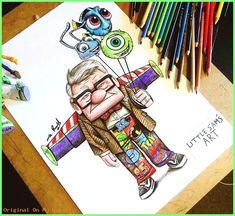 Buzz poo Up Monster Inc nemo Buzz poo Up Monste. - Buzz poo Up Monster Inc nemo Buzz poo Up Monster Inc nemo - Cute Disney Drawings, Cool Art Drawings, Art Drawings Sketches, Cartoon Drawings, Cartoon Art, Drawing Disney, Disney Monsters, Monsters Inc, Disney Kunst