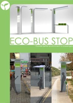 This Eco-Bus Stop can filter the surrounding air with solar energy.