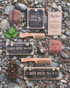Big Red Beard Combs TRIO by BigRedBeardCombs on Etsy