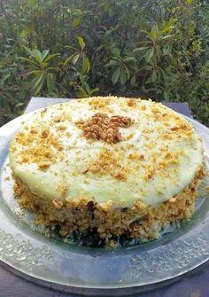 Greek Sweets, Greek Desserts, Greek Recipes, Sweets Recipes, Cake Recipes, Cooking Recipes, Greek Cake, Greek Pastries, Custard Cake