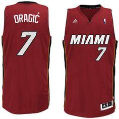 Miami Heat  7 Goran Dragic 2014-15 New Swingman Alternate Red Jersey Miami  Heat 444db54e8