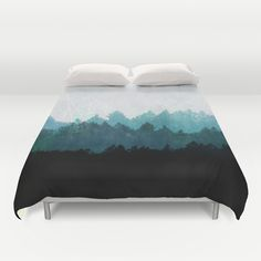 """Woods Abstract"" Duvet Cover by Mareike Böhmer Graphics on Society6."