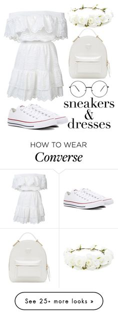 """Depiction of Purity"" by pokeygirlllll on Polyvore featuring LoveShackFancy, Converse, Versace and Forever 21"