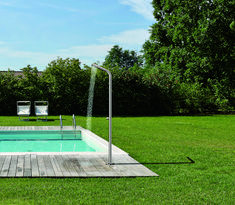 Installing an outdoor shower is becoming a popular in Kiwi backyards. Practical hot or cold-water showers - ideal for rinsing off after a swim or add a touch of opulence with a stunning outdoor bathing area. Cold Water Shower, Outdoor Showers, Water Systems, Water Supply, Backyards, Kiwi, Bathing, Swimming, Touch