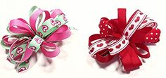 Valentines Day Unique Novelty Love Hearts Set of Two French Hair Clip Bows for Girls (RG) A coordinated accessory finishes the outfit!  Read more http://cosmeticcastle.net/hair-care/valentines-day-unique-novelty-love-hearts-set-of-two-french-hair-clip-bows-for-girls-rg  Visit http://cosmeticcastle.net to read cosmetic reviews