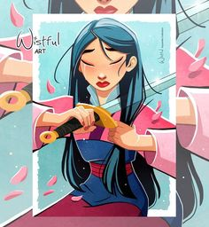 Pixar Drawing Wishful Artist Disney The Flower that Blooms in Adversity is the most rare and beautiful of the all - Mulan Disney Pixar, Walt Disney, Disney Animation, Cute Disney, Disney Girls, Disney Cartoons, Disney And Dreamworks, Disney Characters, Disney Princesses