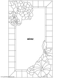 ★ Stained Glass Patterns for FREE ★ glass pattern 576 ★ Stained Glass Mirror, Stained Glass Quilt, Stained Glass Flowers, Faux Stained Glass, Stained Glass Designs, Stained Glass Panels, Stained Glass Projects, Stained Glass Patterns, Leaded Glass