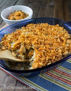 Crunchy Chicken and Wild Rice Casserole